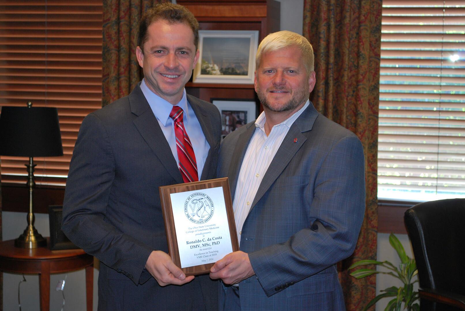 Prêmio de Excelência Didática - The Ohio State University (2018)